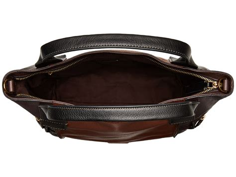 Fossil Satchel Handbag Multi Signature Prin 6038 fossil emerson satchel at zappos