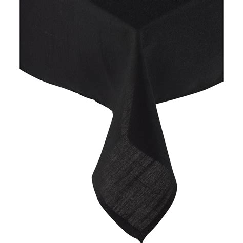 plain black table cloth essentials plain tablecloth or pack of 4 napkins 100