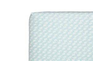 fleeting flora fitted mini crib sheet babyletto