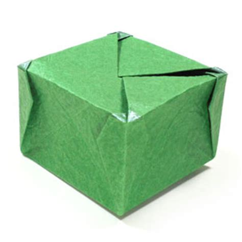 Origami Closed Box - how to make a closed square origami box iv page 1
