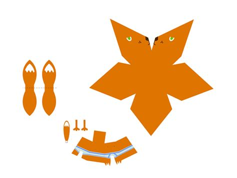 Papercraft Fox - fox papercraft on design served