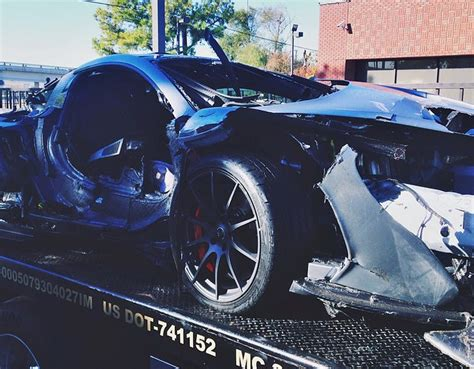 Day Old Mclaren P1 Crashed In Dallas