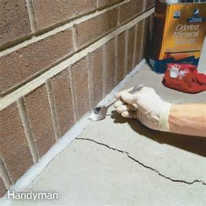 Floor Refinishing Cost by Caulking Concrete Cracks The Family Handyman