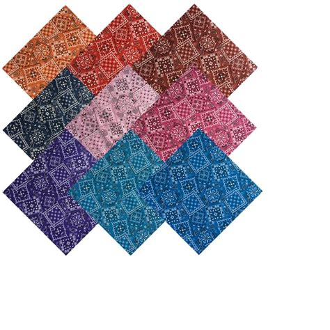 Cutting Quilting Squares by 10 Quot Inch Layer Cake Bandana Colors 20 Pre Cut Quilt