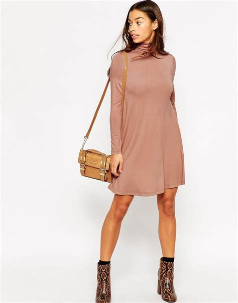 asos petite swing dress asos petite asos petite swing dress with polo neck and
