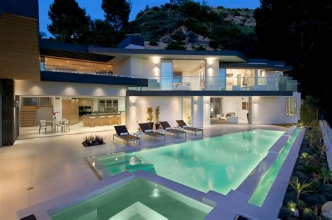world of architecture impressive modern home in hollywood hills california