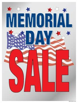 memorial day couch sales holiday window poster 25in x 33in memorial day sale