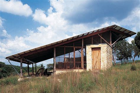 Shed Style House Plans the hill country jacal by lake flato architects oen