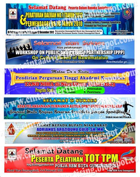 design banner selamat datang contoh design spanduk