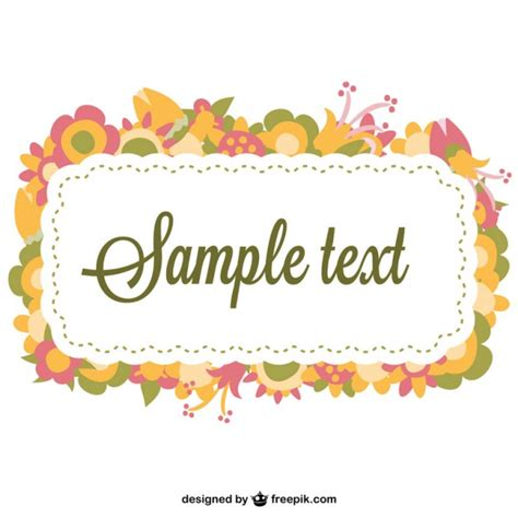 flower frame template vector free download