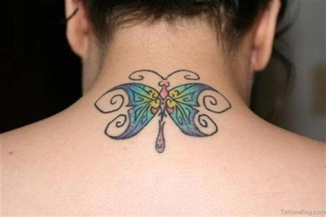 butterfly tattoo back neck 97 decent butterfly tattoos on neck