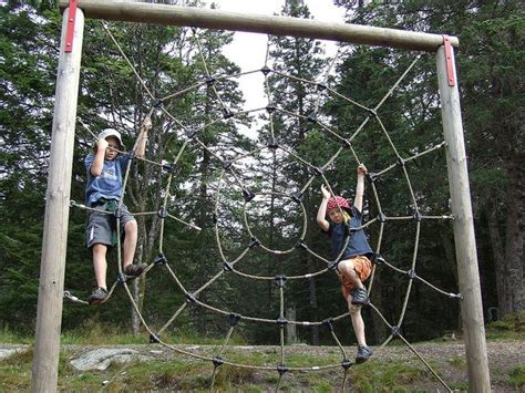 climbing structures backyard giant spider web climbing structure very cool outdoor
