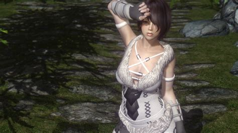 skyrim unpb huntress armor えいへいすぽっと skyrim leatherbound huntress armor