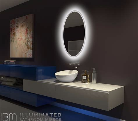 36 x 36 bathroom mirror backlit bathroom mirror oval 24 x 36 in ib mirror