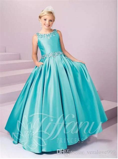 hot sales girls pageant kid formal wear dresses crystals