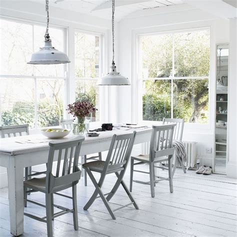 White Furniture Dining Room White Rustic Dining Room Dining Room Designs Dining Tables Housetohome Co Uk