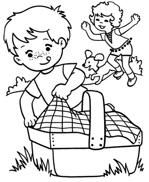 picnic coloring pages picnic coloring pages