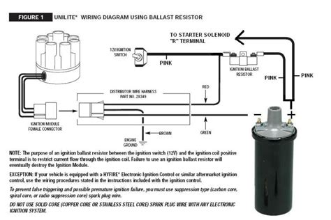 mallory unilite distributor wiring diagram technical mallory unilite in a ford fe the h a m b