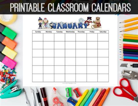 Classroom Calendar Printable Homework Calendars Preschool Kindergarten