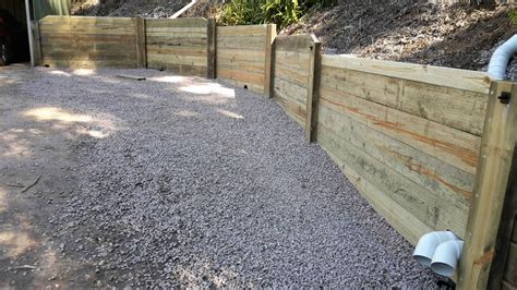 Pine Sleepers Retaining Wall by Retaining Wall Design