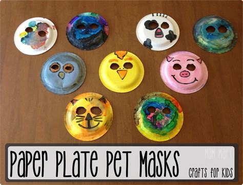 How To Make Animal Masks With Paper - mart paper plate animal masks craftforkids