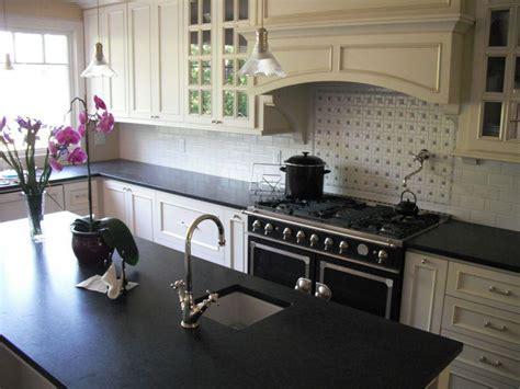 Black Quartz Kitchen Countertops by Black Quartz Countertops White Cabinets Kitchen