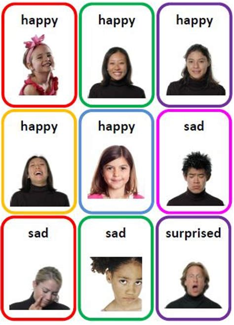 printable feelings flashcards for toddlers 36 emotions photo flash cards printable file folder pdf by