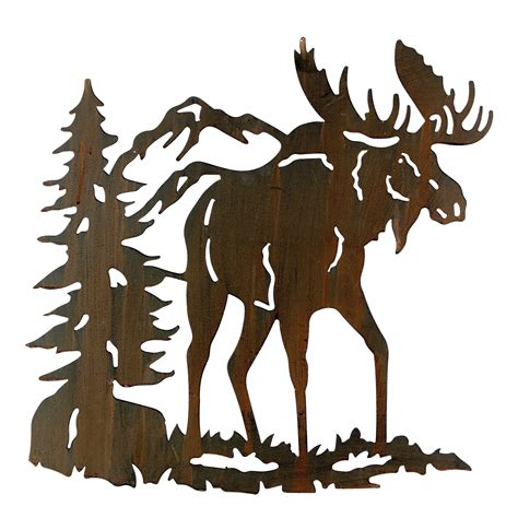 Moose Wall Decor by Moose Metal Wall Hanging