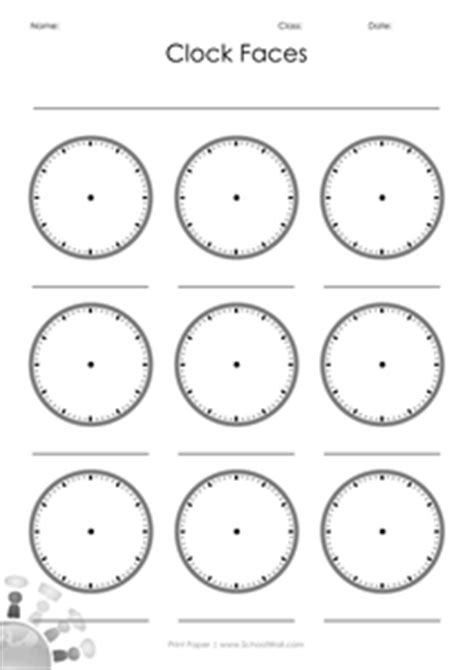 printable learning clock minieco co uk blank clock faces resources tes
