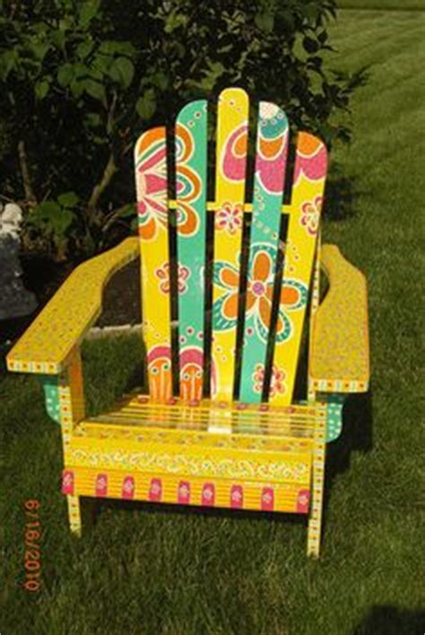 Ideas For Painting Adirondack Chairs by 1000 Images About Funky Patio Ideas On Adirondack Chairs Tropical Adirondack