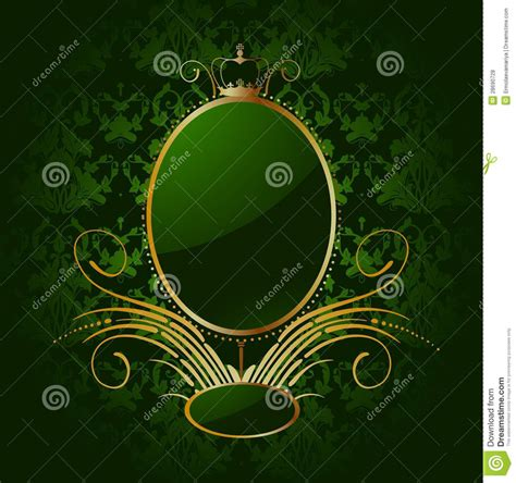Royal Green royal green background with golden frame vector royalty