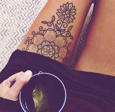 34 best henna tattoo thigh images on pinterest henna mandala henna inspired tattoo one of my favourites