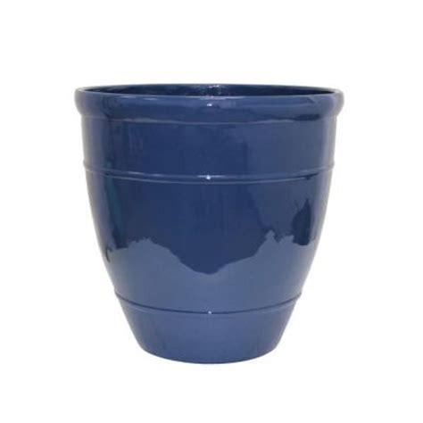 Southern Patio Wright 18 In Dia Midnight Resin Planter Southern Patio Planters
