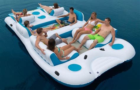 8 person oasis island lake floating river water pool