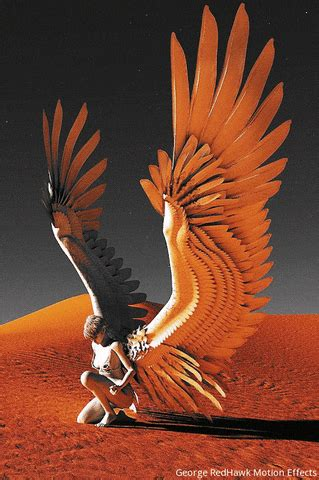 incredible gifs  blind artist george redhawk