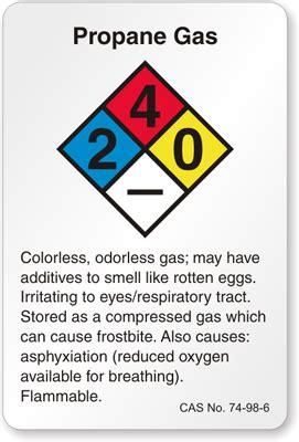 propane gas nfpa chemical label, sku: lb 1591 110