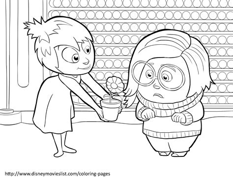 inside out anger coloring page disney s inside out coloring pages sheet free disney