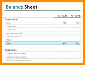 simple balance sheet template 9 simple balance sheet excel graphic resume