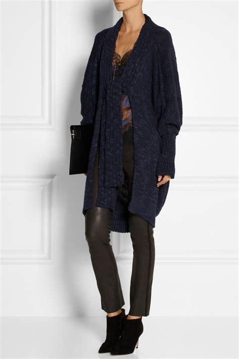 Cb386 Size L Uniqlo Blue Knit Oversize Blazer Formal Luaran Outerwear lyst vivienne westwood anglomania atmos chunky knit wool