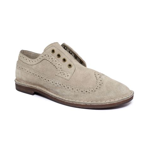 Slip On Casual Denim Grey denim supply ralph orval slipon oxfords in gray for dove grey lyst
