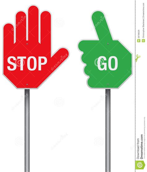 Go Go Go Stop stop and go signs clipart panda free clipart images