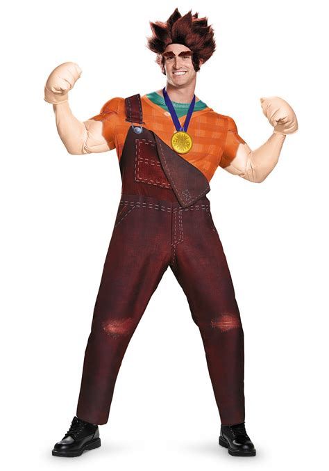 halloween costumes adult deluxe wreck it ralph costume