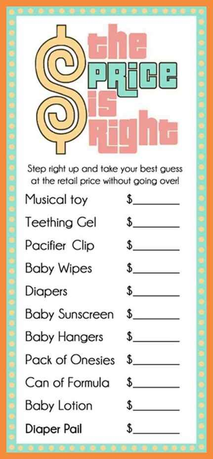 free printable price is right baby shower template 7 8 free printable price is right baby shower