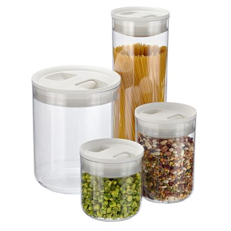 food canisters kitchen click clack pantry canisters the container store