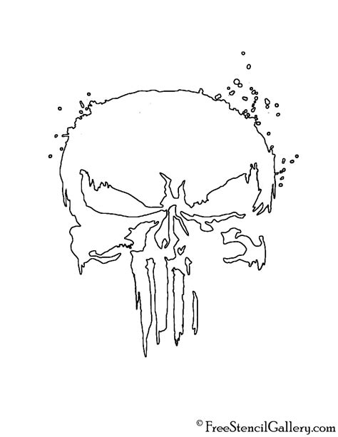 punisher template punisher skull pumpkin stencil www pixshark images