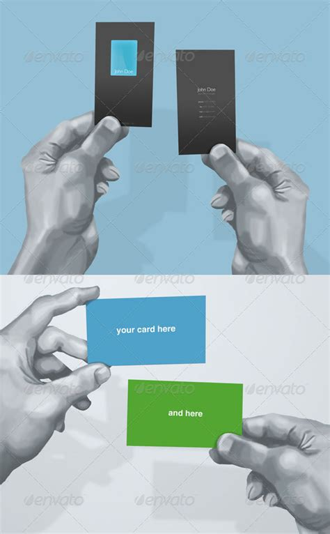 Hand Drawn Business Card Mockup By Dxc Graphicriver Dxc Powerpoint Template