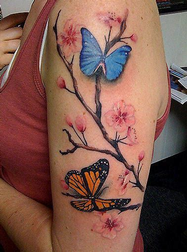 cherry blossom and butterfly tattoo designs the meaning of butterfly tattoos 171 articles 171 ratta