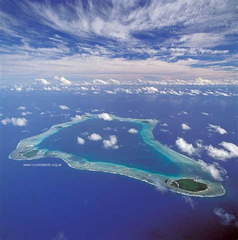the blue palmerston aerial pictures of the cook islands
