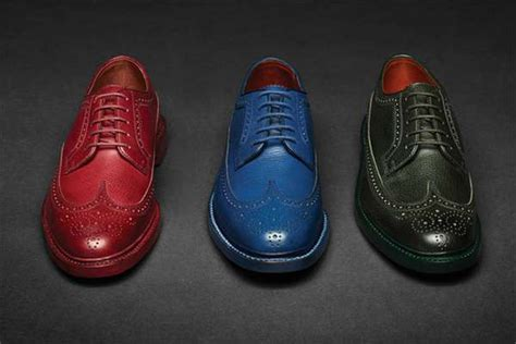 multi colored wingtips florsheim  fall collection