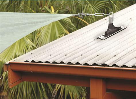 anchor shade sail to tiled roof buy roof extenda bracket shade sail anchor demak